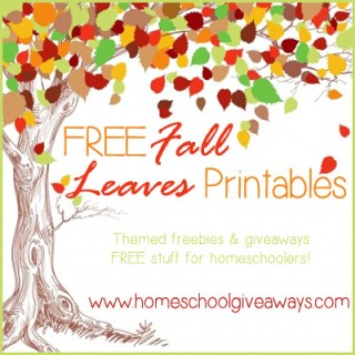 Free Fall Leaves Themed Printables