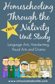 FREE Unit Study: Homeschooling Through the Nativity + Free Printables