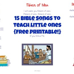 Music: 15 Bible Songs for Little Ones Printables