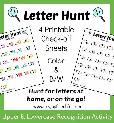 Letter Hunt Worksheet Kindergarten