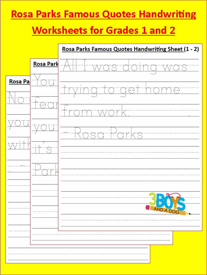 black history month free rosa parks handwriting worksheets free homeschool deals. Black Bedroom Furniture Sets. Home Design Ideas