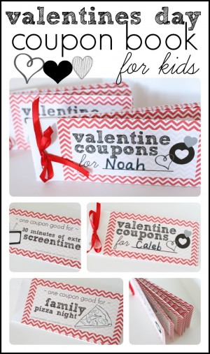 Valentines Day Coupon Book for Kids