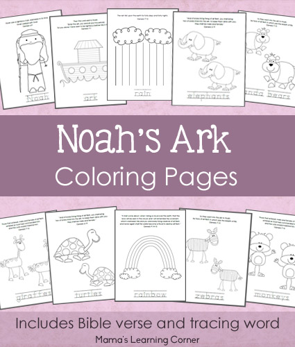 Free Printables For Kids Noahs Ark Coloring Pages