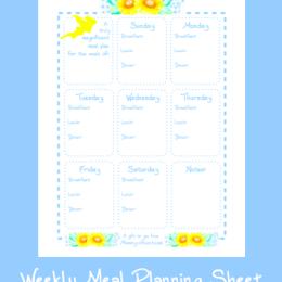 Free Weekly Meal Planning Sheet Printable
