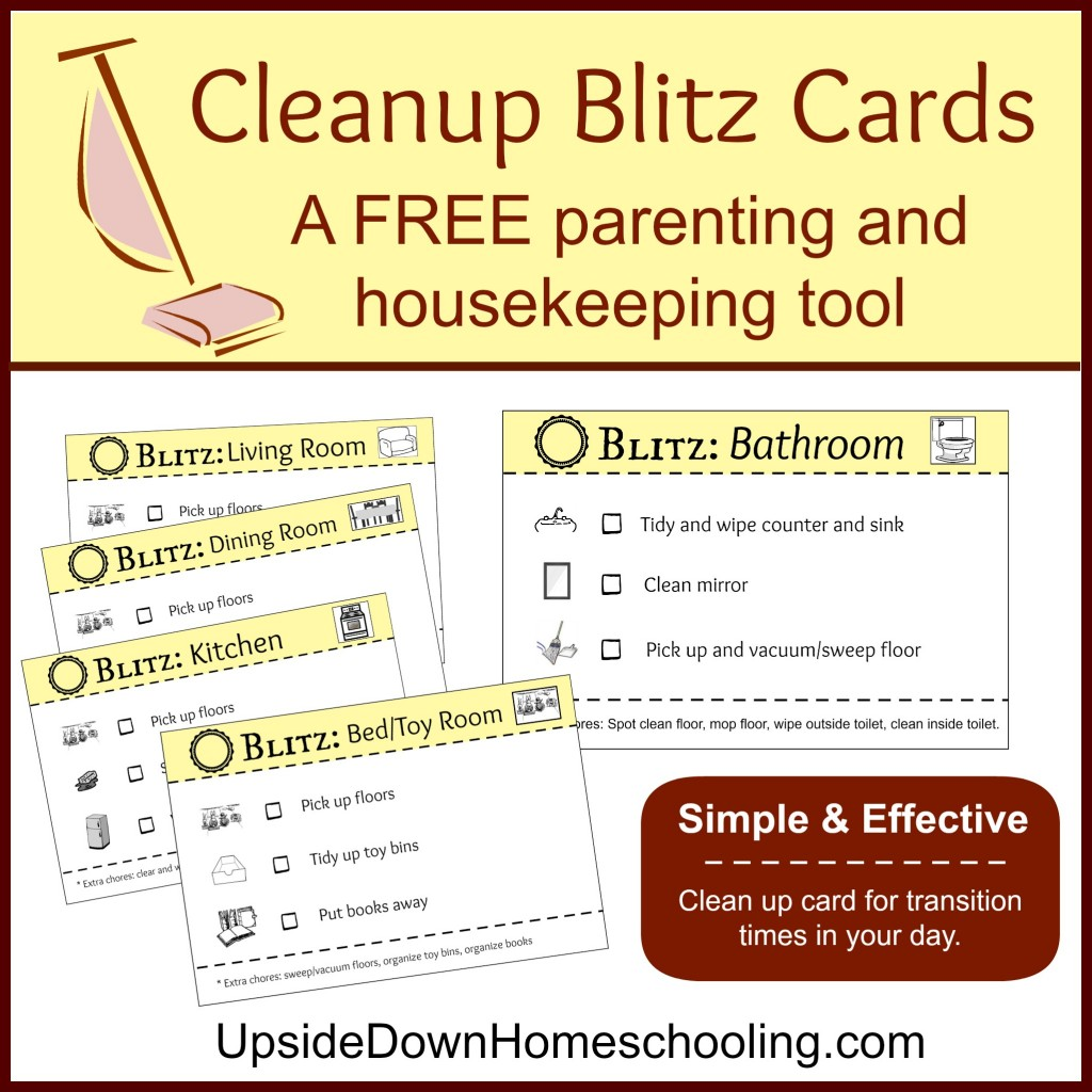 Free Cleanup Blitz Cards A Free Parenting And