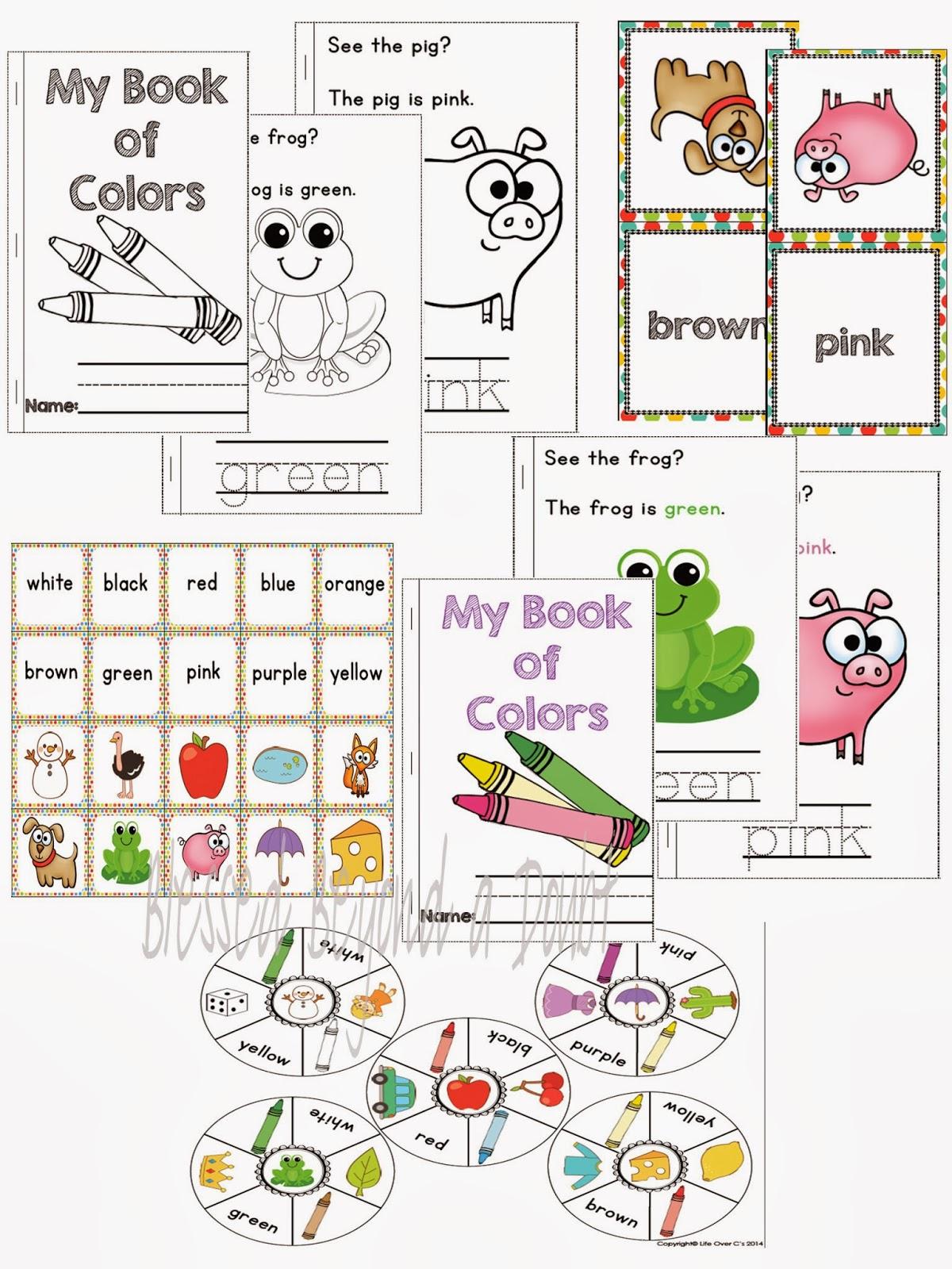 Free Kindergarten Color Recognition Printables Pack