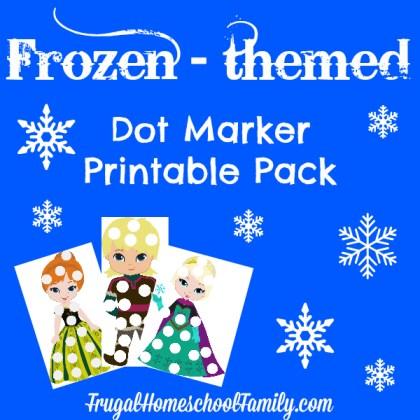 Frozen Themed Dot Marker Printable Pack