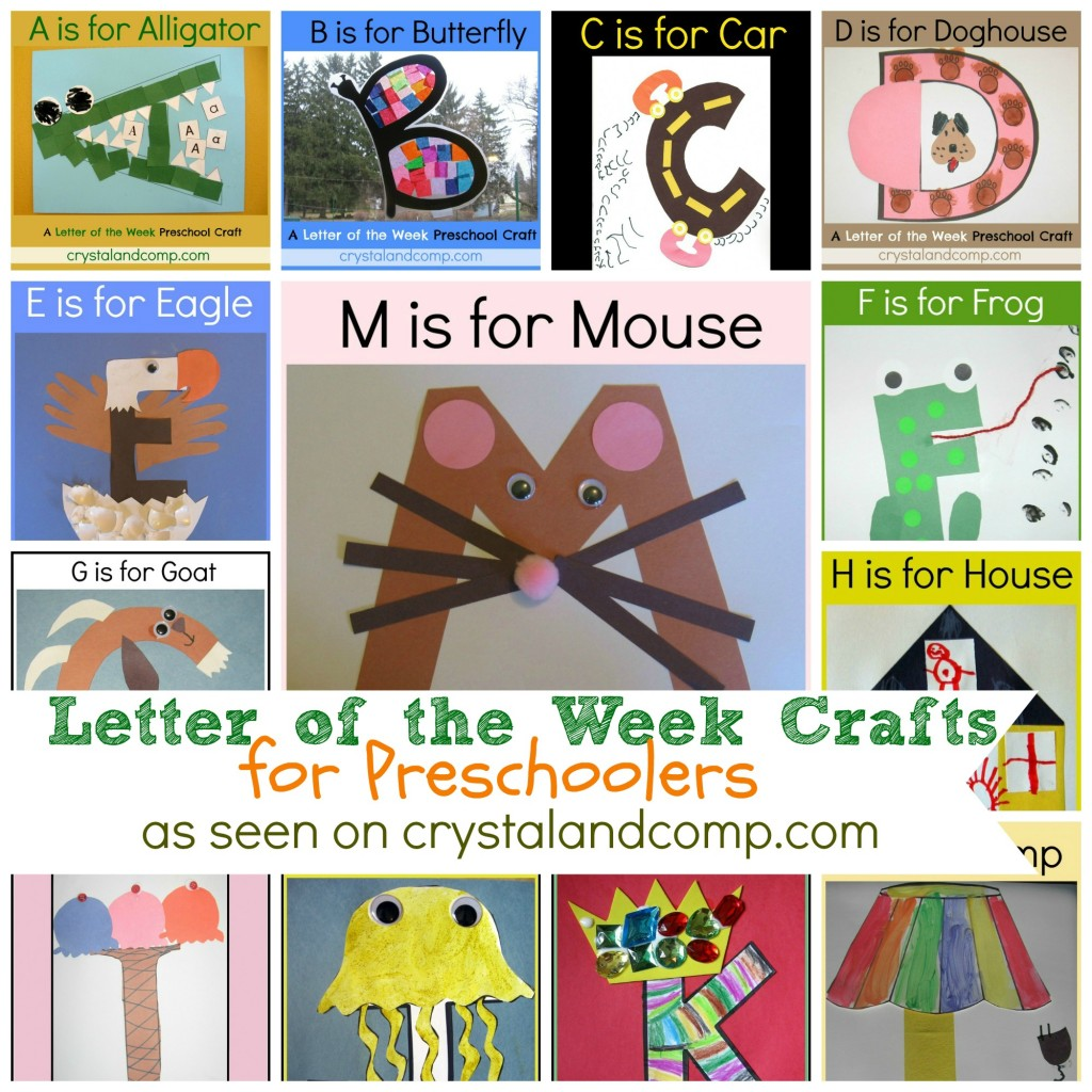 Free Letter Of The Week Crafts For Preschoolers
