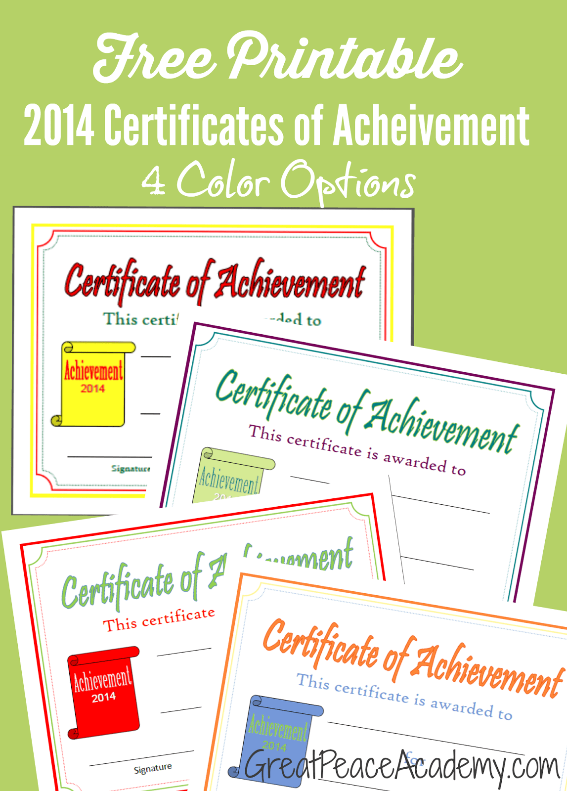 Free Homeschool Award Printable Certificates