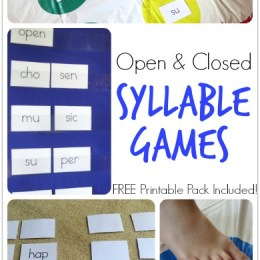 Free Printables: Open and Closed Syllable Games