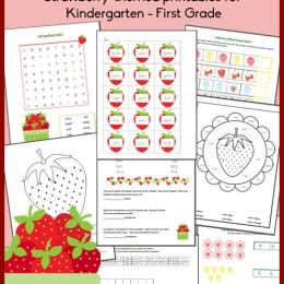 Free Strawberry Printables for Kindergarten-First Grade