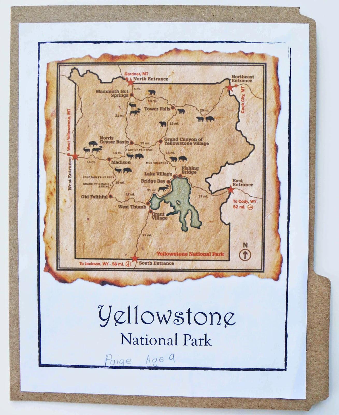 worksheet Yellowstone National Park Worksheets free yellowstone national park lapbook homeschool deals
