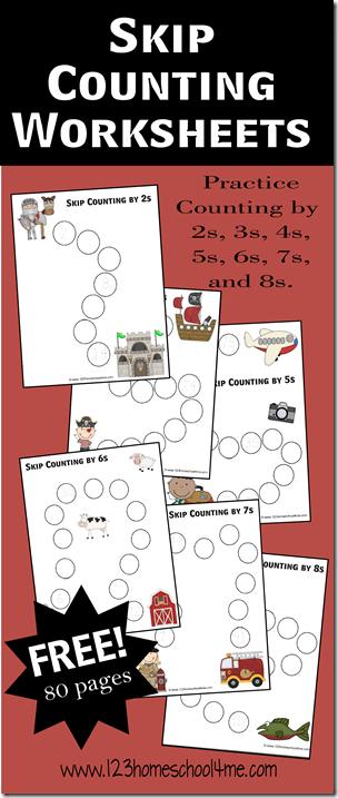 free skip counting math worksheets free homeschool deals. Black Bedroom Furniture Sets. Home Design Ideas