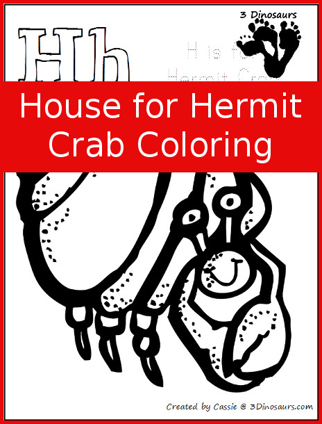 FREE House for Hermit Crab Coloring Pages | Free Homeschool Deals ©