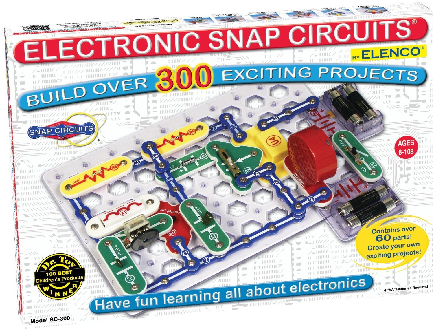 Elenco Snap Circuits Physics Kit Including Over 300