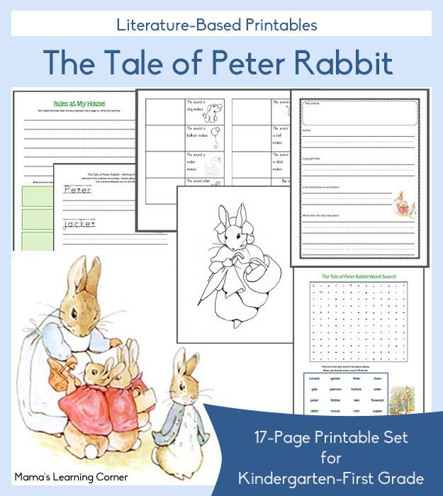 These Tale Of Peter Rabbit Printables From Mamas Learning Corner Is Geared Towards Kindergarten First Grade Children In This 18 Page Printable Set