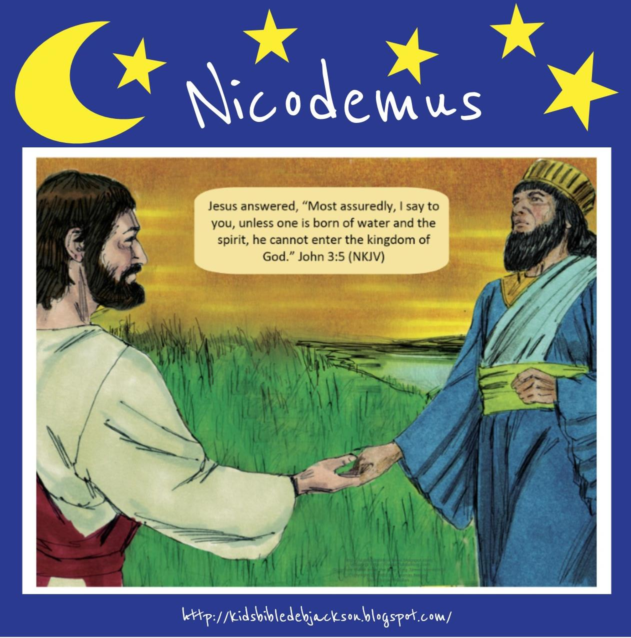 Free Nicodemus Lesson And Printable