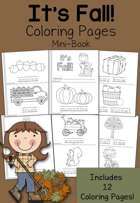 FREE Fall Mini Books and 12 Coloring Pages   Free Homeschool Deals ©