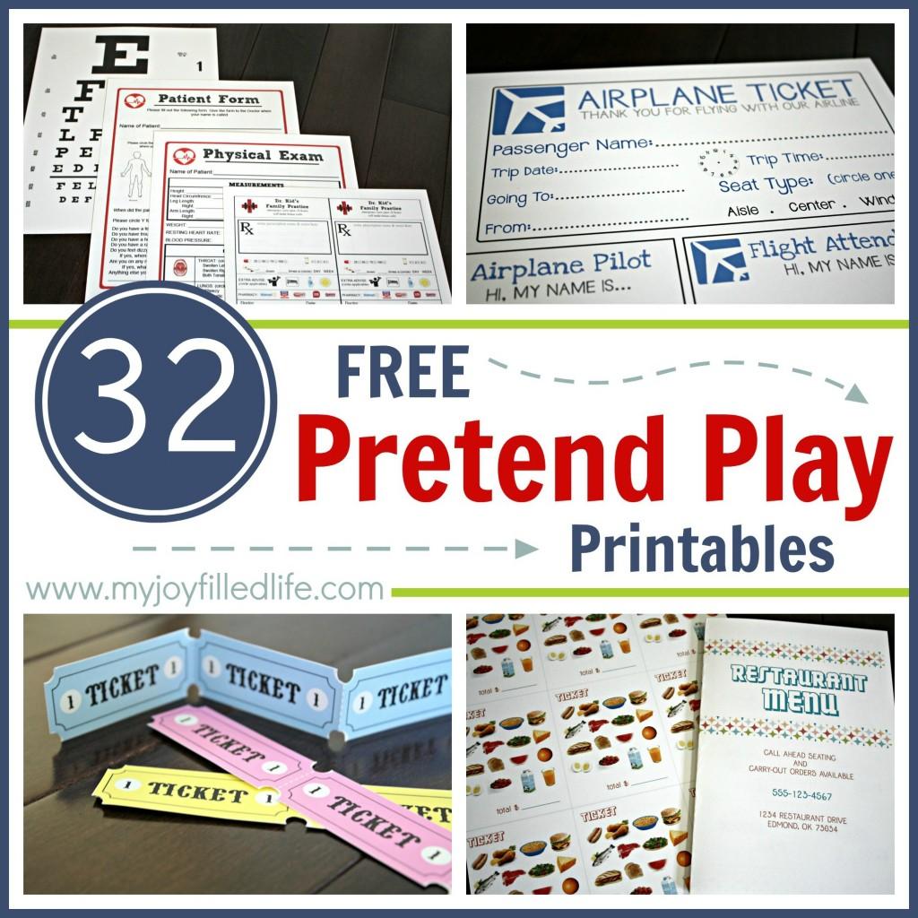 Free Pretend Play Printables