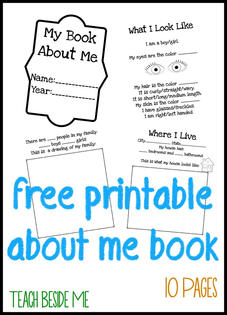 Dashing image intended for free printable all about me worksheet