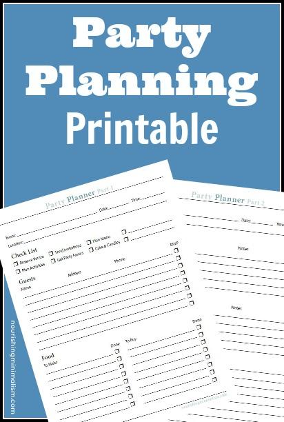 FREE Party Planning Worksheet | Free Homeschool Deals ©