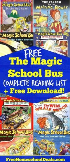 FREE Magic School Bus Book List