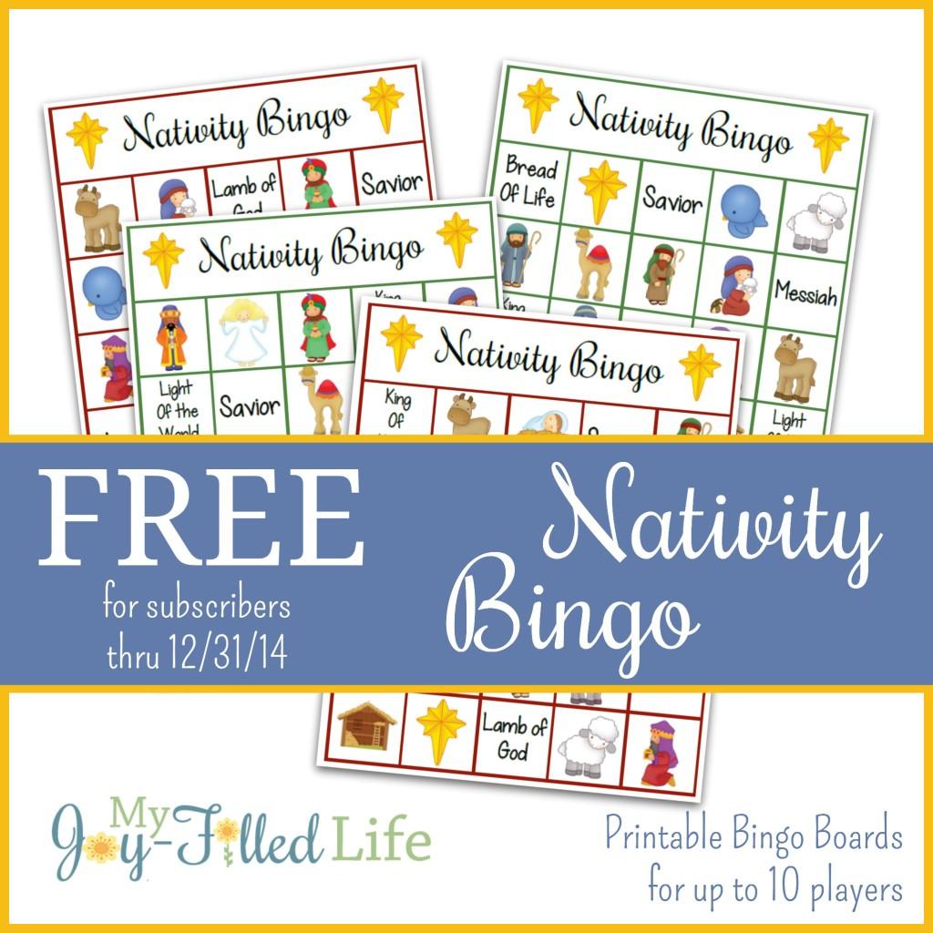 Free Nativity Bingo Game Subscriber Freebie