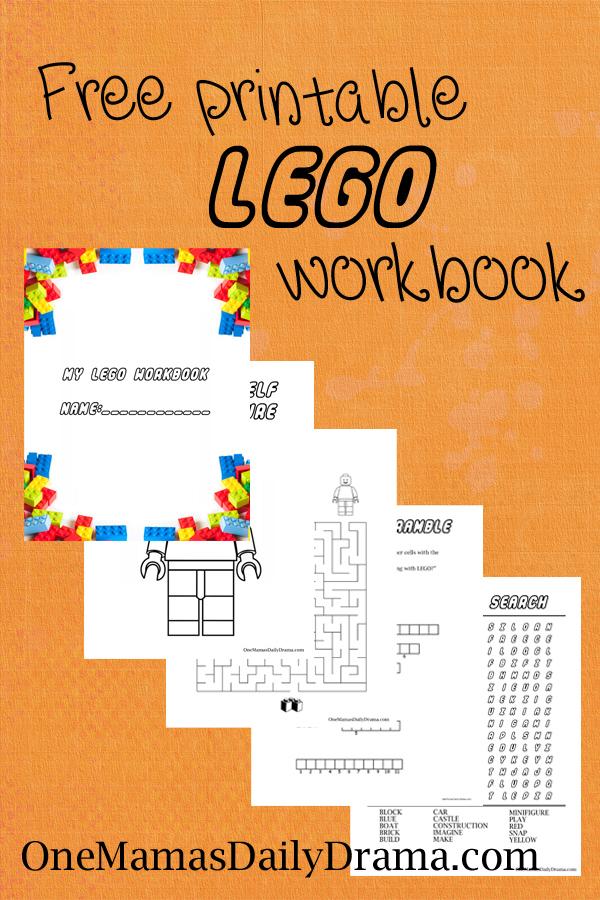 FREE Printable Lego Workbook | Free Homeschool Deals ©