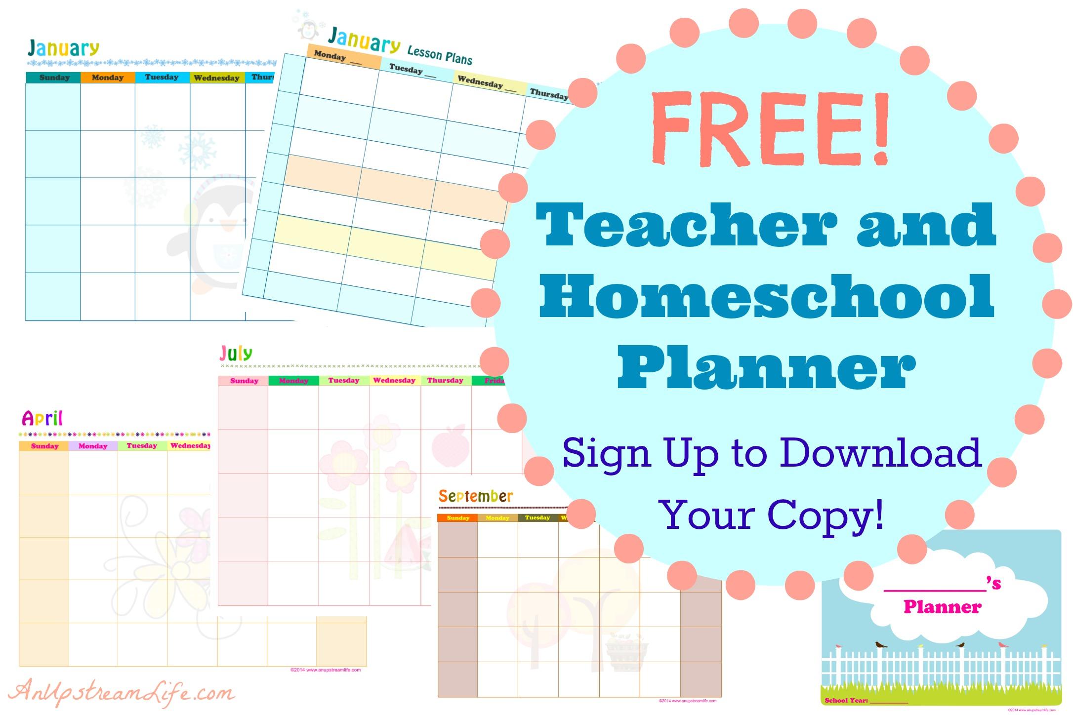 Free Teacher And Homeschool Planner Subscriber Freebie