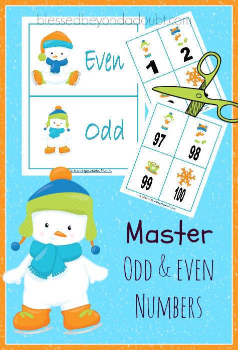 Teaching Odd And Even Numbers Snow Baby Printables