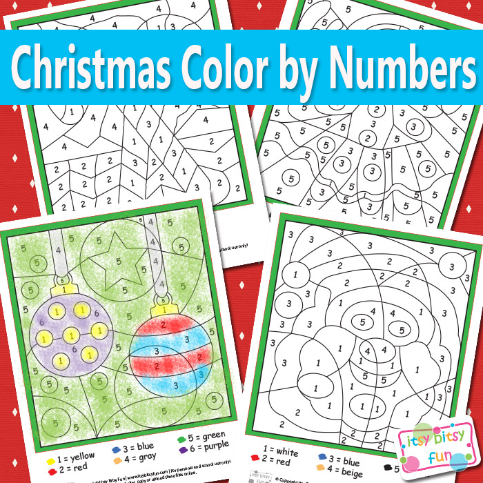 FREE Christmas Color By Number Pages | Free Homeschool Deals