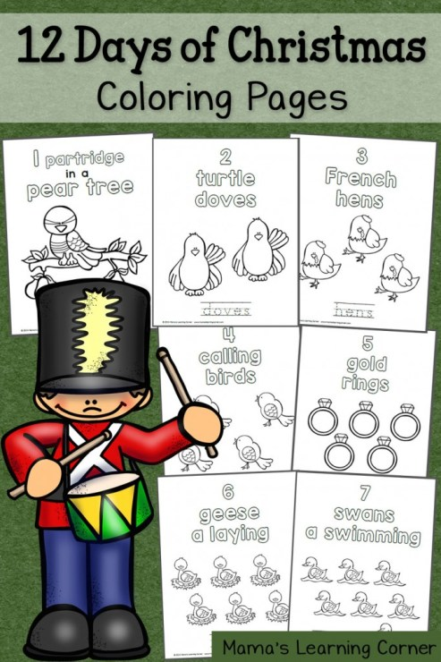 free 12 days of christmas coloring pages free homeschool deals