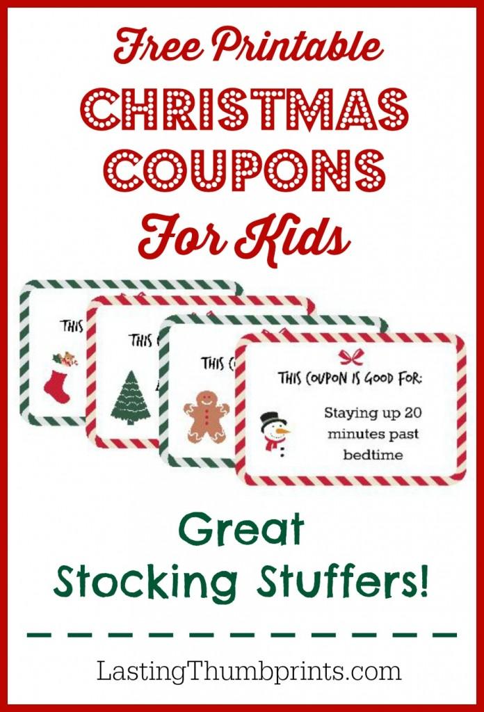 FREE Christmas Coupon Printable For Kids Free Homeschool