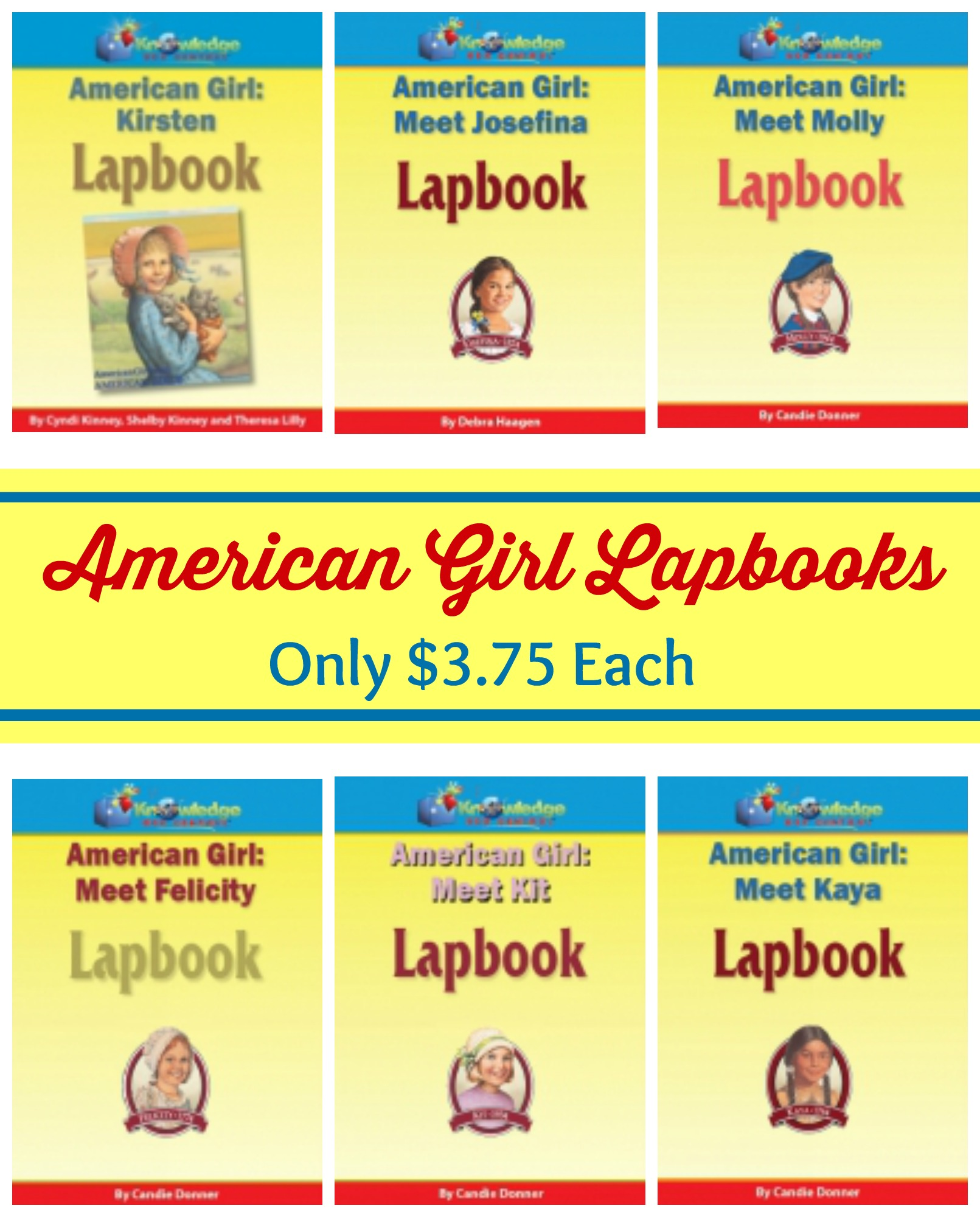 American Girl Lapbooks Only 3 75 Each