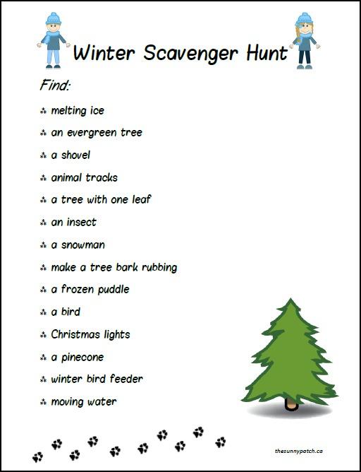 free winter scavenger hunt for kids free homeschool deals. Black Bedroom Furniture Sets. Home Design Ideas