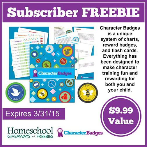 Free character badge system 999 value subscriber freebie free homeschool giveaways has a free character badge reward system for anyone who subscribes to their site through 33115 this system freebie includes three fandeluxe Gallery