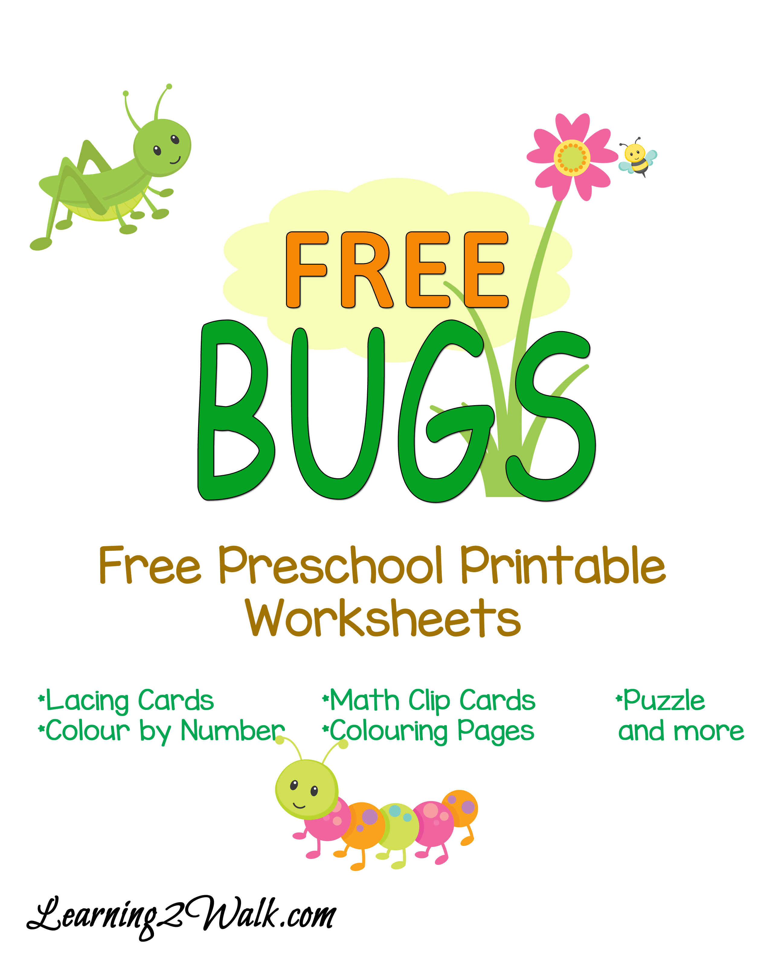 Free Preschool Bug Worksheets
