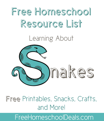 Free Homeschool Resource List: Learning About Snakes -- Snake Themed ...