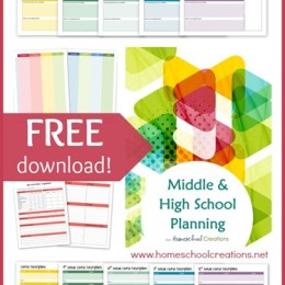 FREE Middle and High School Planning Pages