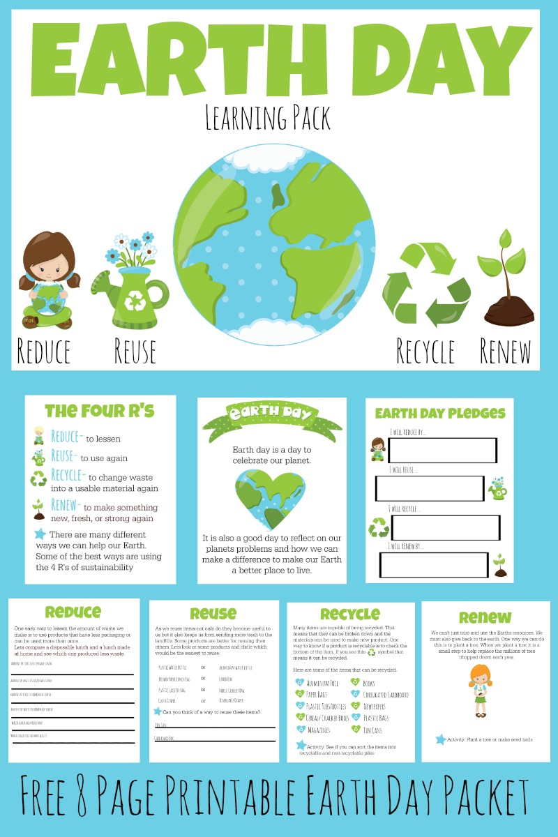 FREE Earth Day Learning Pack