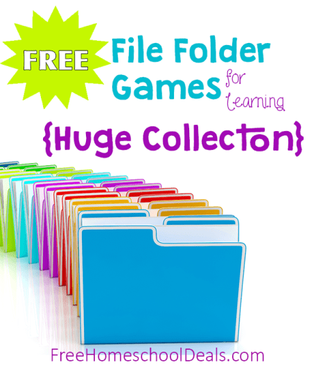 Free File Folder Games for Homeschool Learning and Fun! {HUGE ...