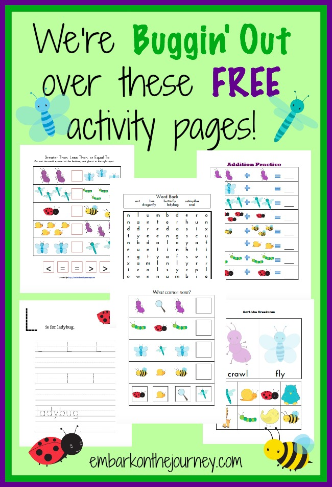 Free Bug Activity Pages