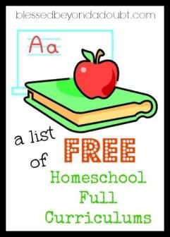 free homeschool curriculums