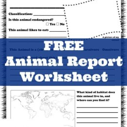 FREE Animal Report Printables