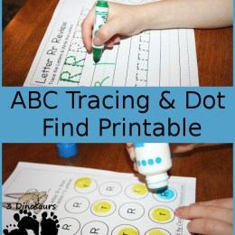 FREE ABC Dot Tracing Printables