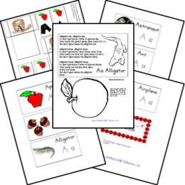 FREE Alphabet Lap n Note Pages