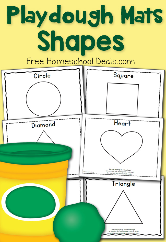 Free Shapes Play Dough Mats Instant Download Free