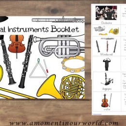 FREE Printable Musical Instruments Booklet