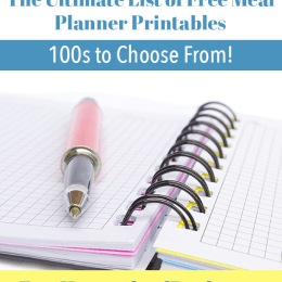 The Ultimate List of Free Meal Planner Printables