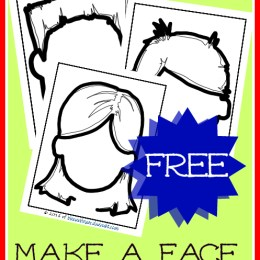 FREE Make a Face Play Dough Mats